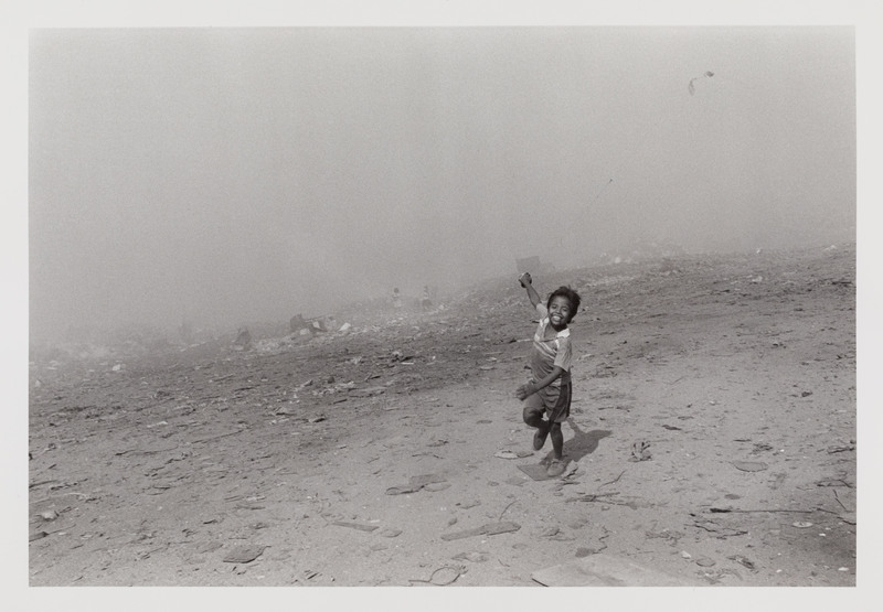 Child Flying a Kite in Acapulco Dump, Mexico
