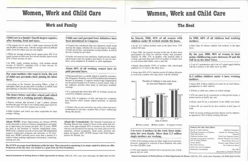 Women, Work and Childcare