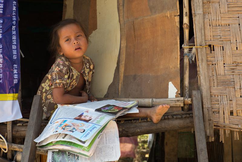 Little Girl Reading, Cambodia
