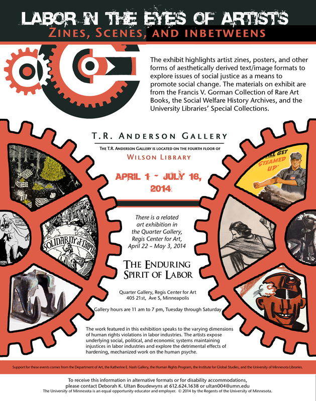 """Poster for the Exhibition """"Labor in the Eyes of Artists: Zines, Scenes, and Inbetweens"""