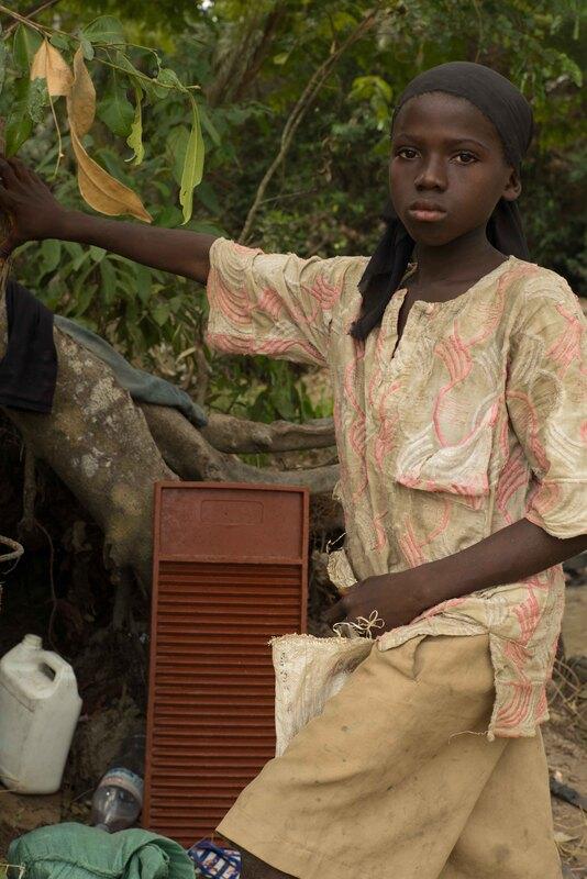 Girl Doing Laundry, Tikonko Chiefdom, Sierra Leone