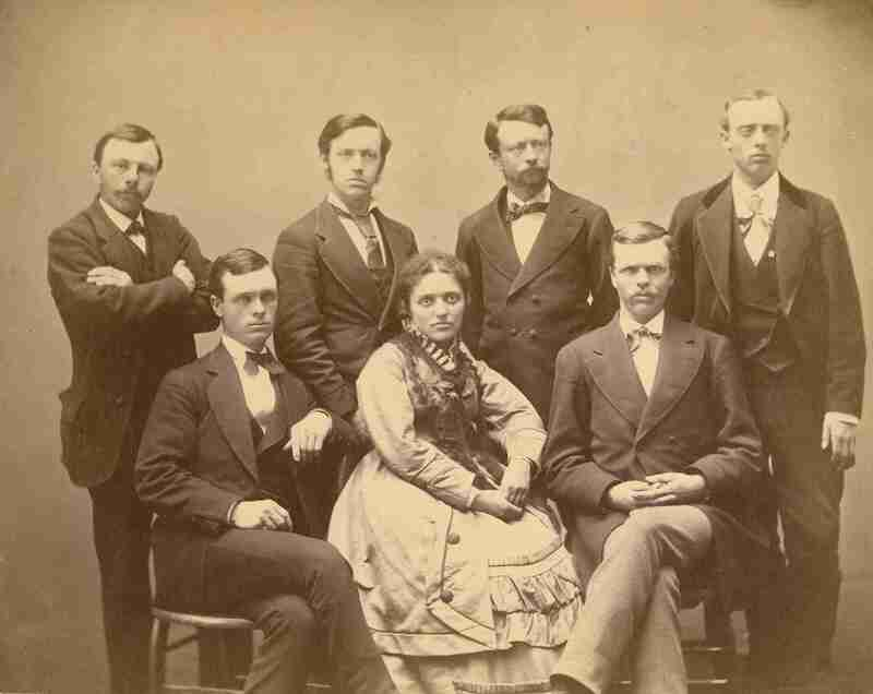 Class of 1875; depicts Helen Mar Ely (Williamson), the first woman to graduate from the University of Minnesota