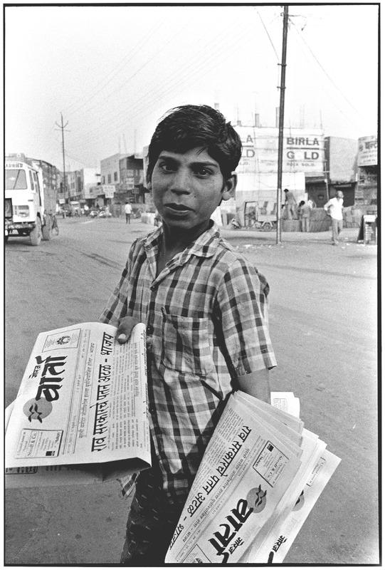 Newsboy in India