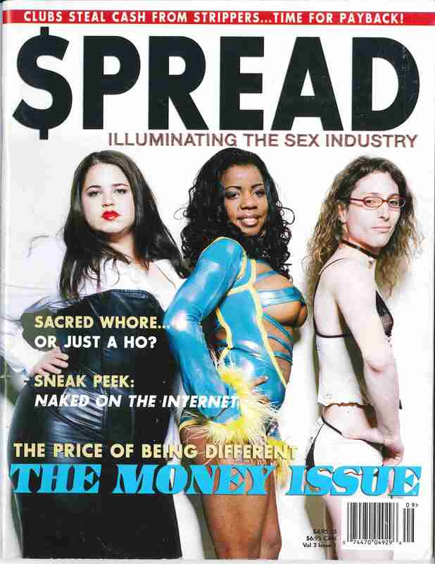 $pread Magazine: The Money Issue ; Three sex workers pose on the cover