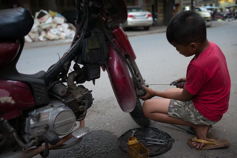 Motorcycle Mechanic, Cambodia