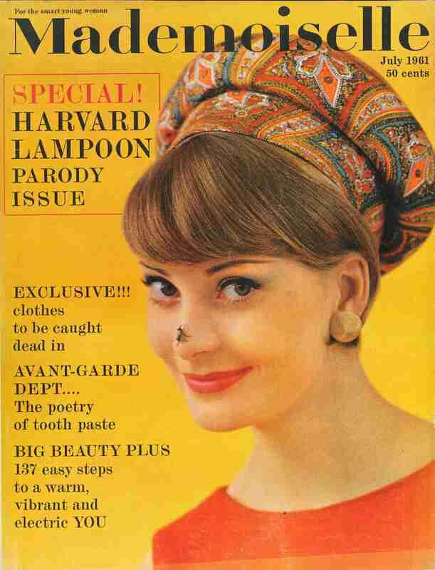 Mademoiselle: Harvard Lampoon parody issue, depicts new fashion items for women to wear to work