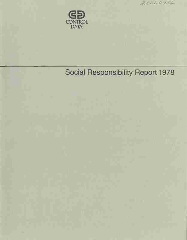 Control Data Corporation Social Responsibility Report; Booklet; Northside Child Care Center Feature