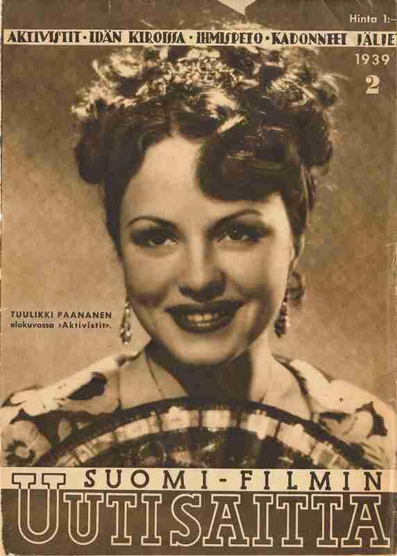 Tuulikki Paananen on the cover of Suomi-Filmin Uuisaitta