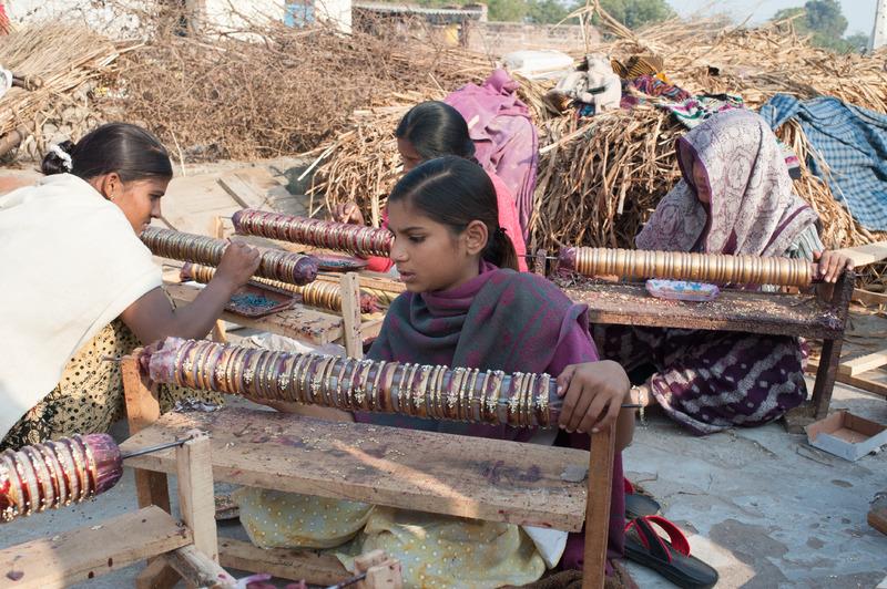 Girls Making Bangles, India